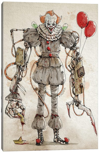Rusty Pennywise 2 Canvas Art Print