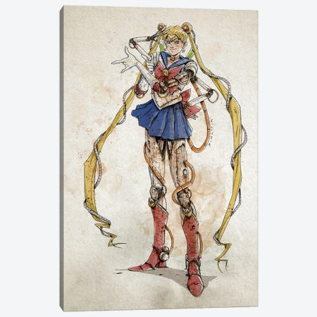 Rusty Sailor Moon Canvas Print #NMT40} by Nico Di Mattia Canvas Art Print