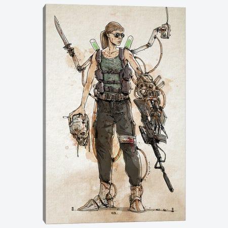 Rusty Sarah Connor Canvas Print #NMT41} by Nico Di Mattia Canvas Art Print