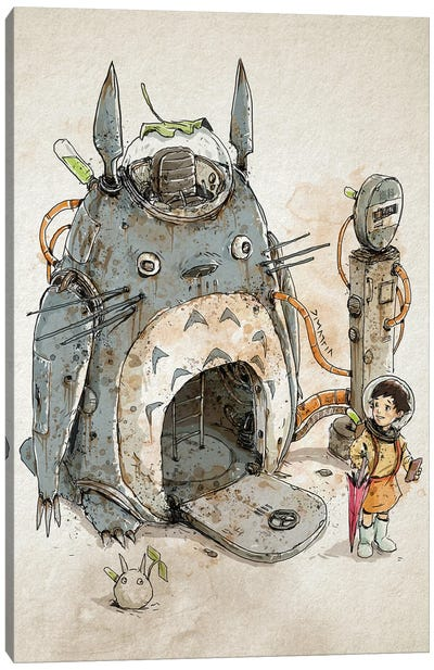 Rusty Totoro Canvas Art Print