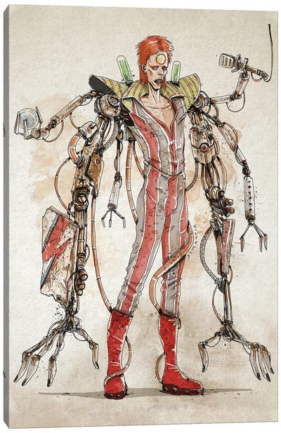 Rusty Bowie Canvas Art Print