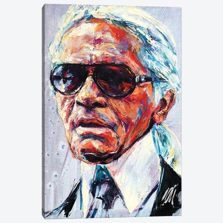 Karl Lagerfeld Canvas Print #NMY100} by Natasha Mylius Canvas Artwork