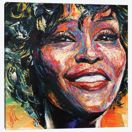 Whitney Houston Canvas Print #NMY101} by Natasha Mylius Canvas Wall Art