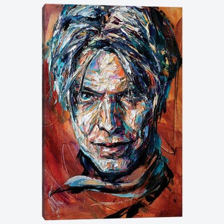 David Bowie Canvas Print #NMY105} by Natasha Mylius Canvas Print