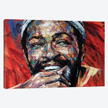 Marvin Gaye Canvas Print #NMY106} by Natasha Mylius Art Print