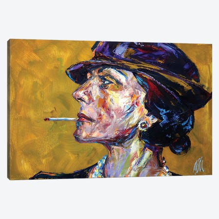 Coco Chanel Canvas Print #NMY10} by Natasha Mylius Canvas Print