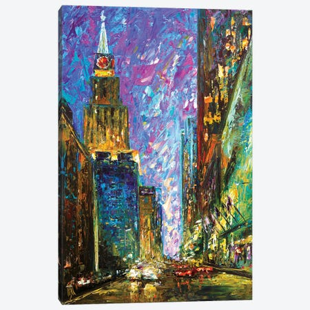 Downtown Canvas Print #NMY13} by Natasha Mylius Canvas Print