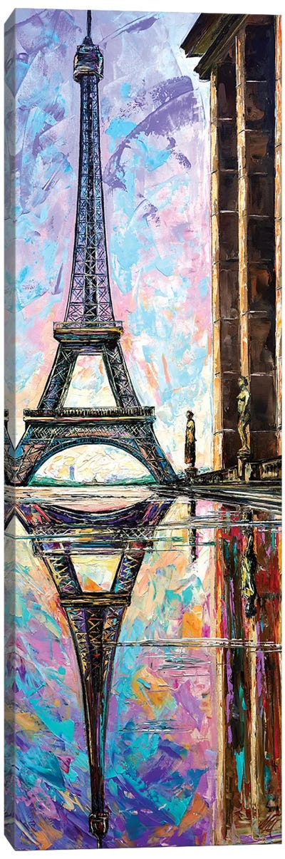 Eiffel Tower View From Trocadero Canvas Art Print