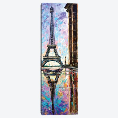 Eiffel Tower View From Trocadero Canvas Print #NMY14} by Natasha Mylius Canvas Art
