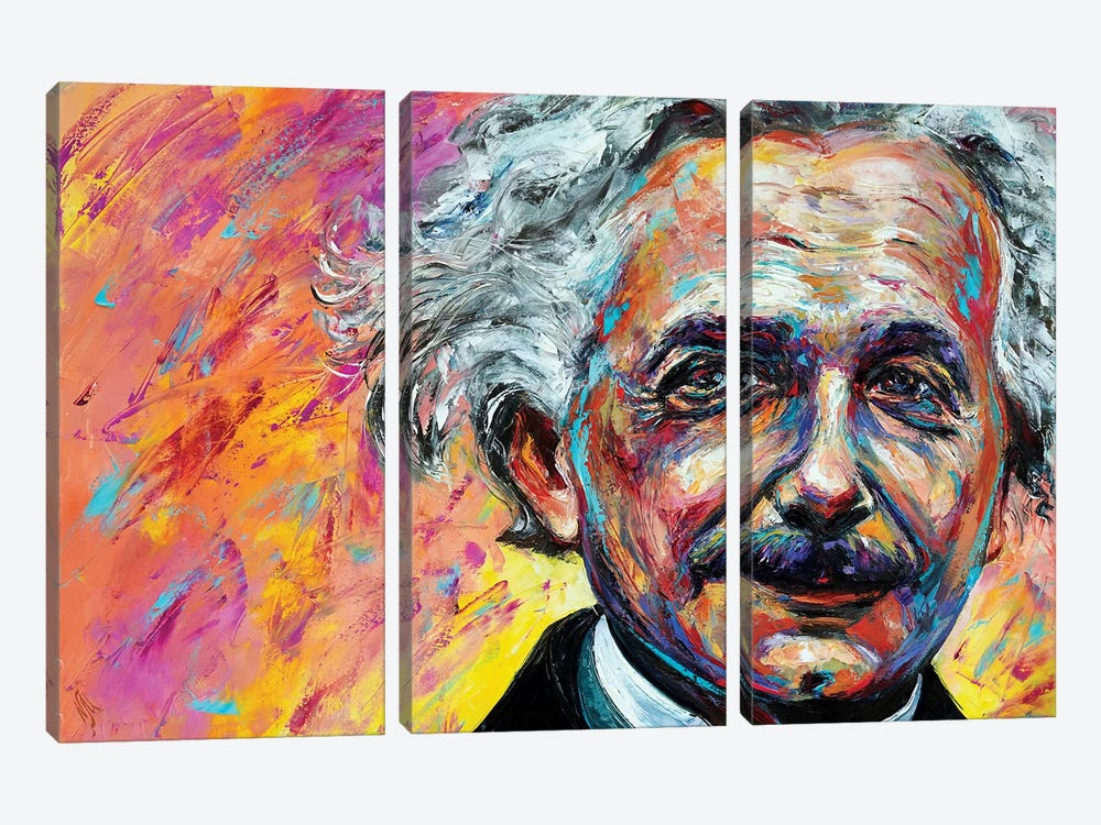 Einstein by Natasha Mylius 3-piece Canvas Print