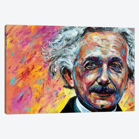 Einstein Canvas Print #NMY15} by Natasha Mylius Canvas Artwork