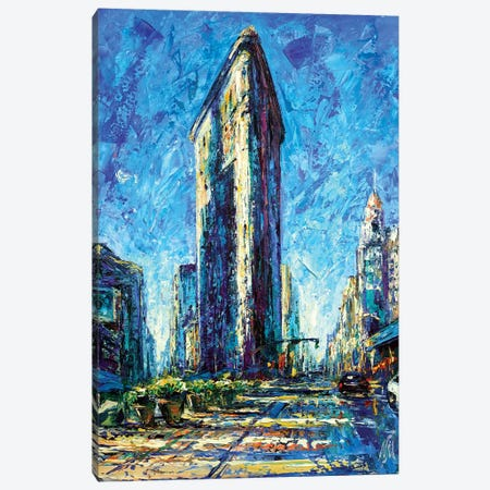 Flatiron Canvas Print #NMY16} by Natasha Mylius Canvas Wall Art