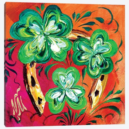 Irish Good Luck I Canvas Print #NMY19} by Natasha Mylius Art Print