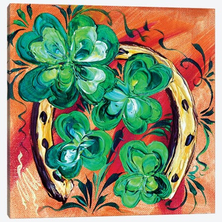Irish Good Luck II Canvas Print #NMY20} by Natasha Mylius Canvas Wall Art