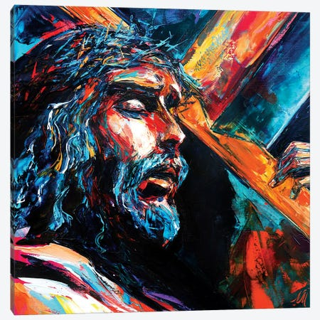 Jesus Christ Canvas Print #NMY21} by Natasha Mylius Canvas Wall Art