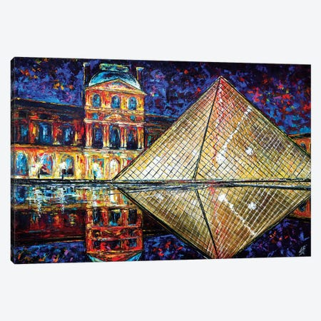 Louvre Canvas Print #NMY23} by Natasha Mylius Canvas Art