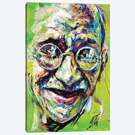 Mahatma Gandhi Canvas Print #NMY24} by Natasha Mylius Art Print