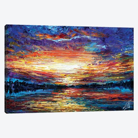 Majestic Sunset Canvas Print #NMY25} by Natasha Mylius Art Print