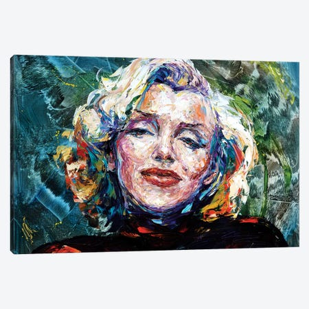 Marilyn Canvas Print #NMY28} by Natasha Mylius Canvas Artwork