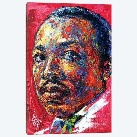MLK Canvas Print #NMY29} by Natasha Mylius Canvas Artwork
