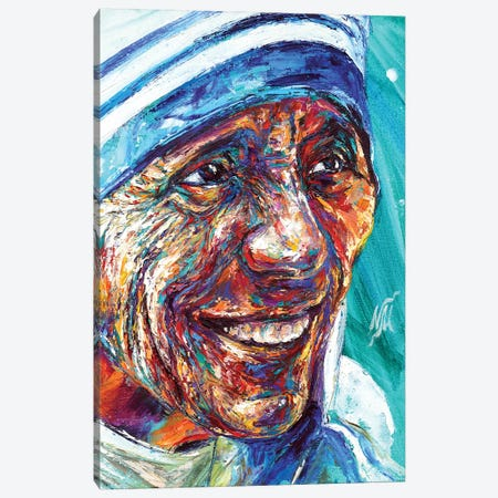 Mother Teresa Canvas Print #NMY30} by Natasha Mylius Art Print