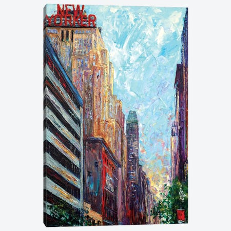 New Yorker Canvas Print #NMY32} by Natasha Mylius Art Print