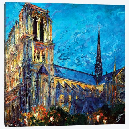 Notre Dame I Canvas Print #NMY34} by Natasha Mylius Canvas Art