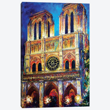 Notre Dame II Canvas Print #NMY35} by Natasha Mylius Canvas Wall Art