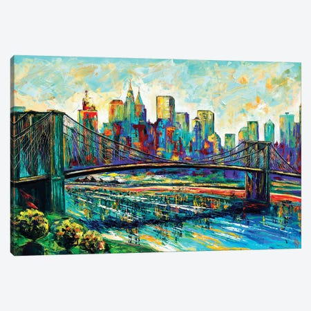 NYC Skyline Canvas Print #NMY36} by Natasha Mylius Canvas Wall Art