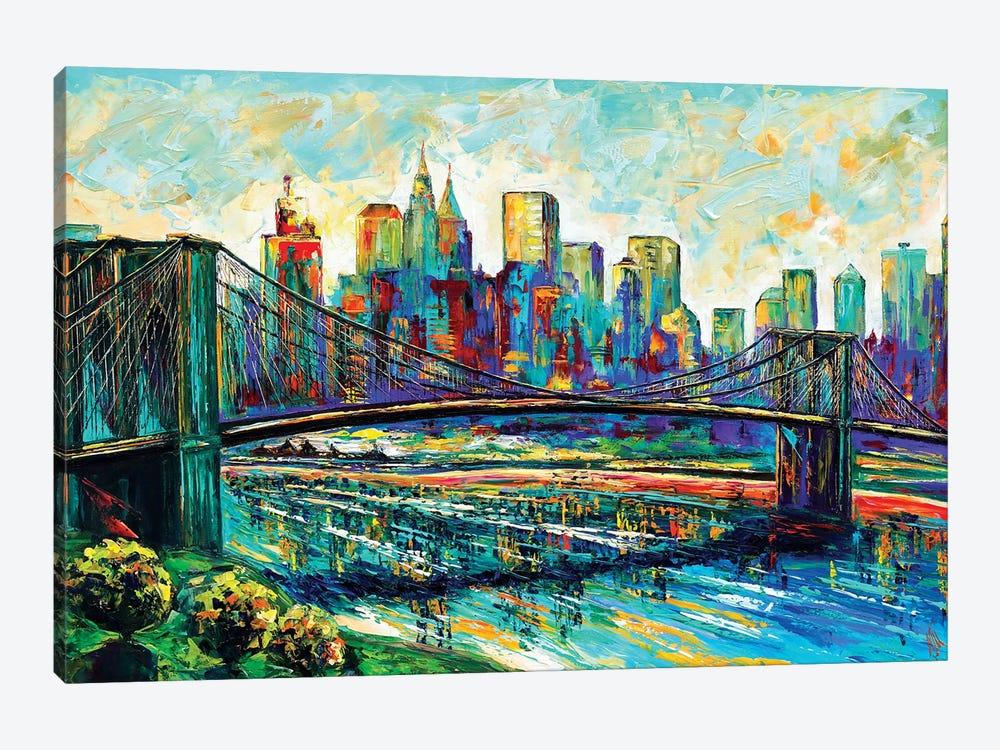 NYC Skyline by Natasha Mylius 1-piece Canvas Artwork