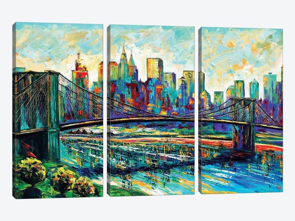 NYC Skyline by Natasha Mylius 3-piece Canvas Art