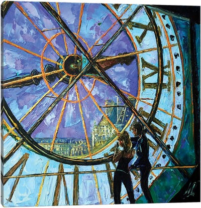 Orsay Clock Canvas Art Print
