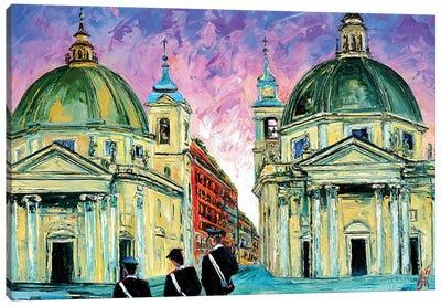 Piazza del Popolo Canvas Art Print