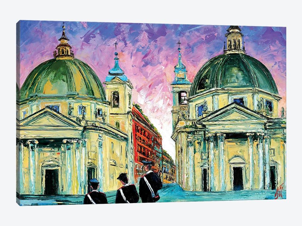 Piazza del Popolo by Natasha Mylius 1-piece Art Print