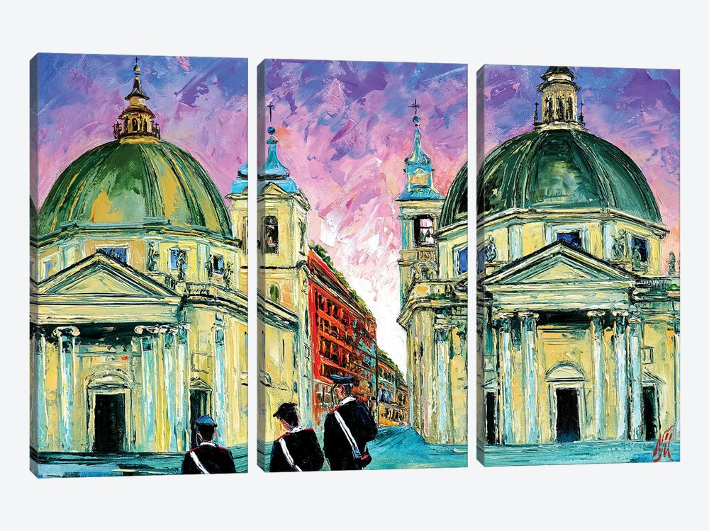 Piazza del Popolo by Natasha Mylius 3-piece Art Print