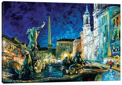 Piazza Navona Canvas Art Print