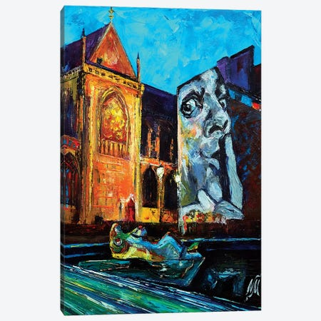 Place Stravinsky Canvas Print #NMY43} by Natasha Mylius Canvas Artwork