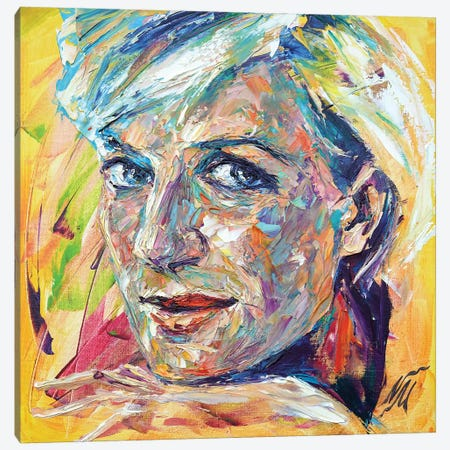 Princess Diana Canvas Print #NMY44} by Natasha Mylius Canvas Art Print