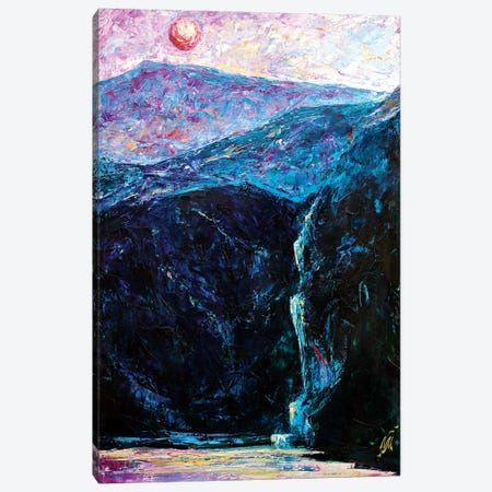 Red Moon Canvas Print #NMY45} by Natasha Mylius Canvas Print