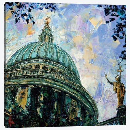 St Paul's Cathedral Canvas Print #NMY48} by Natasha Mylius Canvas Art