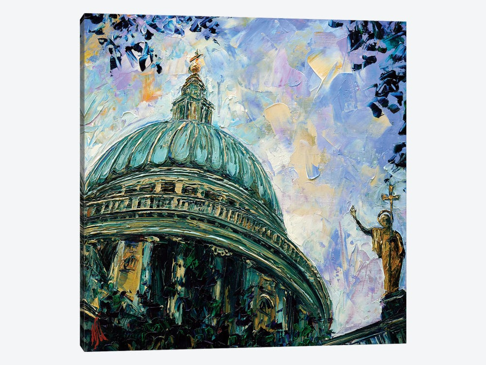 St. Paul's Cathedral by Natasha Mylius 1-piece Canvas Art Print