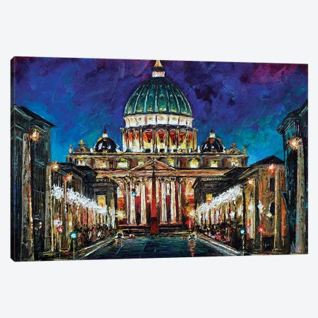 St Peter's Basilica Canvas Print #NMY49} by Natasha Mylius Canvas Art