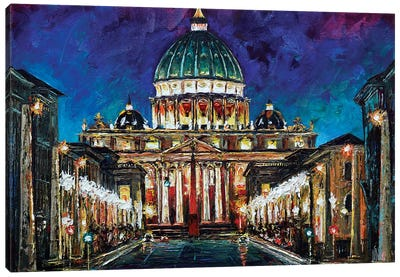 St Peter's Basilica Canvas Art Print