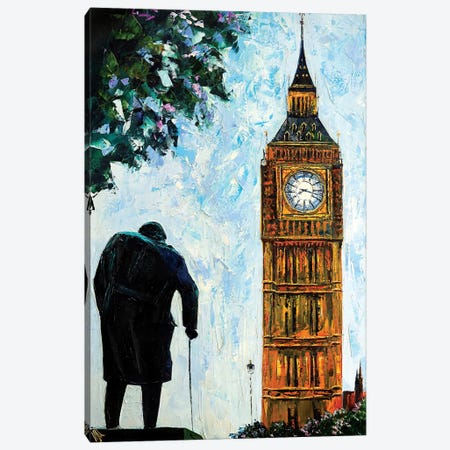 Big Ben Canvas Print #NMY4} by Natasha Mylius Canvas Artwork
