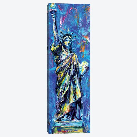 Statue Of Liberty Canvas Print #NMY50} by Natasha Mylius Art Print