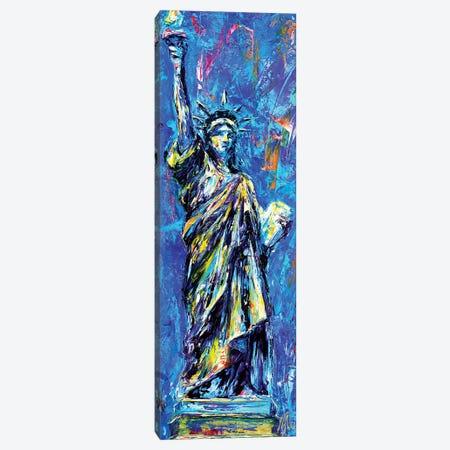 Statue Of Liberty Canvas Print #NMY50} by Natasha Mylius Art Print