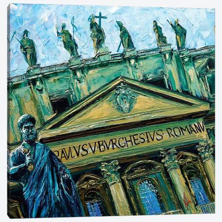 Statue Of Saint Peter Canvas Print #NMY51} by Natasha Mylius Canvas Print