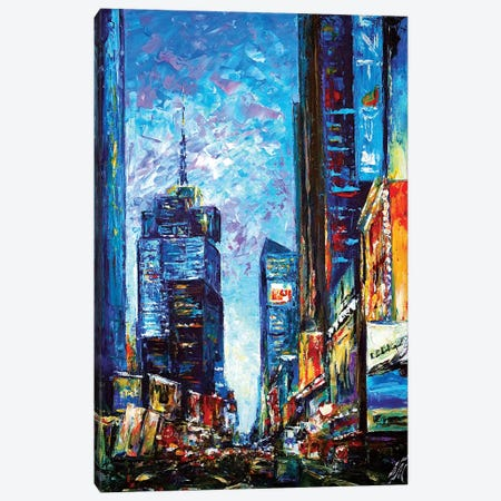 Times Square Canvas Print #NMY53} by Natasha Mylius Canvas Print