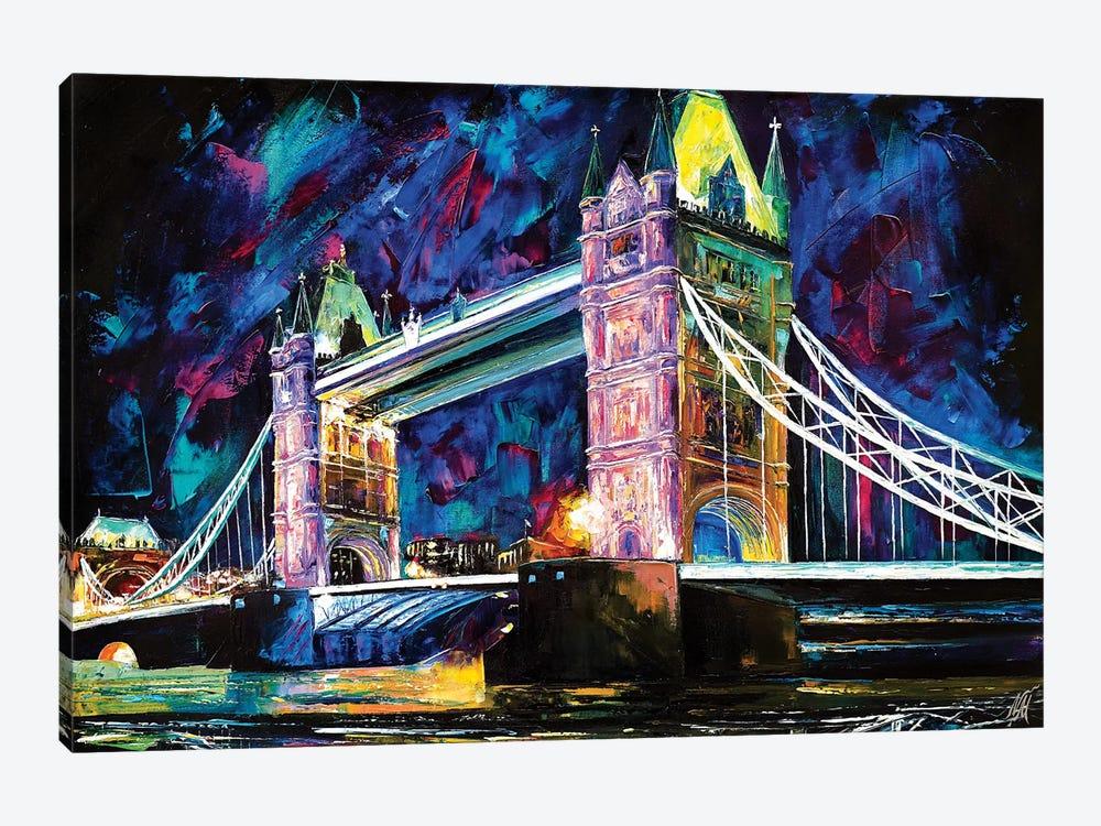 Tower Bridge At Night by Natasha Mylius 1-piece Canvas Art Print