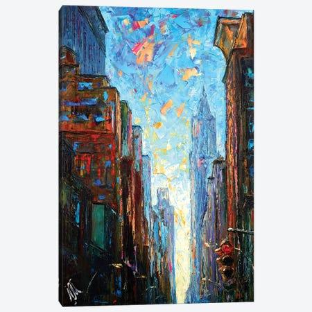 Traffic Light Canvas Print #NMY56} by Natasha Mylius Canvas Art